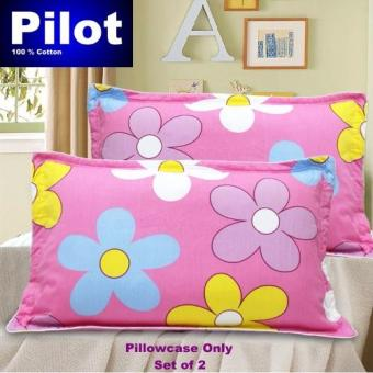 Hot Sale Pilot Bedding Pure Thick Cotton Fashion Print /ZipperDeluxe Hotel Home Resort Envelope Style Pillowcase Best Gift (PinkSunflower)