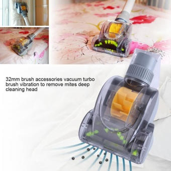 Household Vacuum Turbo Floor Brush Deep Cleaning Dirt Dust Dander Mites Remover Tool 32mm - intl