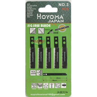 Hoyoma Jigsaw Blade for Wood (No.3 Straight Fast Cut Makita TypeShank)