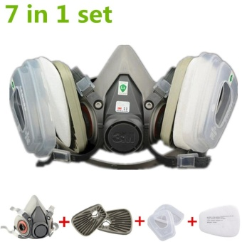 IBERL 1PC 7 in 1 Suit half Face For 3M 6200 Gas mask Spray PaintingProtection Respirator - intl