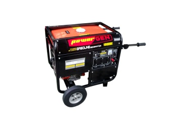 Harga Powergen 10000E Portable Generator (Red/Black)