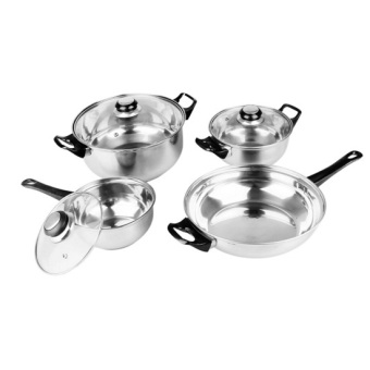 Harga Lifestyle EX-CW07 Stainless Steel Cookware 7-piece Set (Silver)