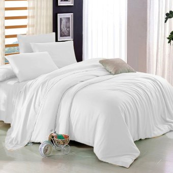 Sleep Essentials 3-in-1 Fitted Sheets Plain Bedsheet -Single/White Price Philippines