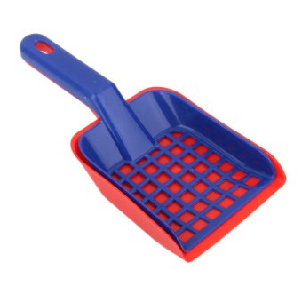 Harga BolehDeals 1 Set Plastic Cat Pet Animal Litter Tray Poop Sieve & Scoop Scooper Shovel