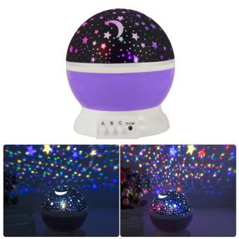 Home Novelty Night Light Projector Lamp Rotary Flashing Starry Star Moon Sky Star Projector for Kid Children Baby Gift - intl Price Philippines