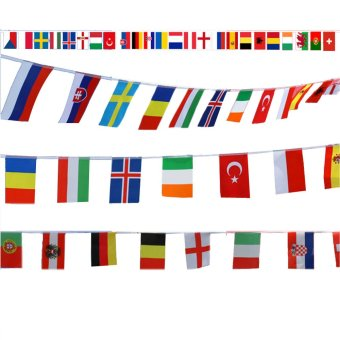 World Country National Hanging String Flags of Top 24 Countries of 2016 European Football Champions Price Philippines