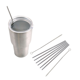 Yingwei 6 Pcs Stainless Steel Straight Metal Drinking Straw Reusable Straws Plus 2 Cleaner Brush Kit Price Philippines