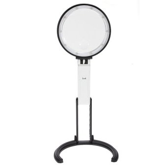 Harga Foldable 2X 5X 10LED Light Table Desk Stand Magnifier Loupe Magnifying Glass Len - intl