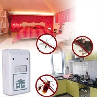 Harga Moonar Home Living ultrasonic rat repellent pest repelling aid for ants mosquito mouse - intl