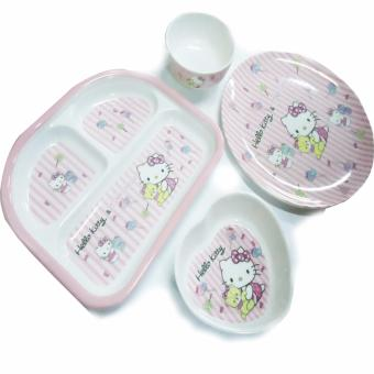 Harga Homex hello kitty plate sets