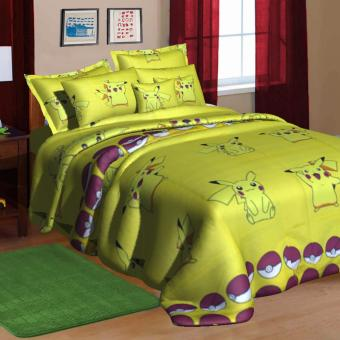 "Sleep Essentials Jirachi Fire Roaster Collection 3 Piece Bedding Set (Fits 3"" to 6"" Bed Cushion) Price Philippines"