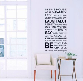Harga House Rules Wall Sticker
