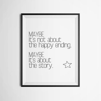 Quote Wall Art Print Poster, Wall Pictures For Home Decoration, Frame Not Include Canvas Art FA358 Price Philippines