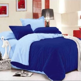Harga Beverly's Linen Collection Comforters, 4-Piece Set (dark/light blue)