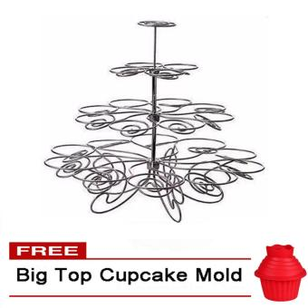 Harga 4-Layer Cupcake Stand Free Big Top Cupcake Mold