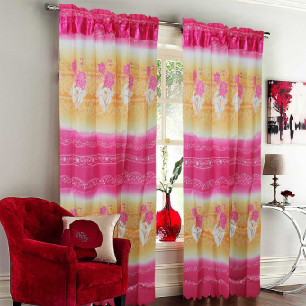 Harga CS Curtain Linen Ruislip Blush Roses Window Single Panel