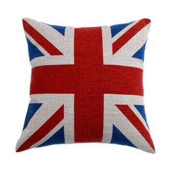 cotton sheeting pillowcase British England national flag pillow case Throw Cushion pillowslip - red Price Philippines