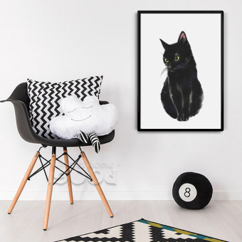 Cartoon Cat Canvas Art Print Painting Poster, Wall Pictures for Home Decoration, Home Decor S16003 - intl Price Philippines