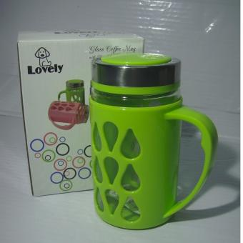 Fashionable Mug with Plastic Protector Green Price Philippines