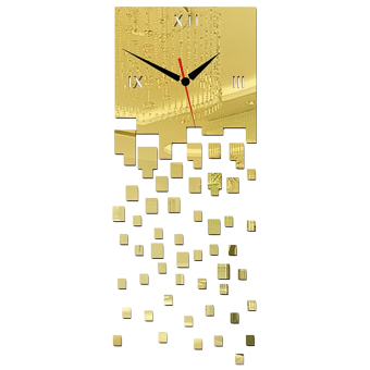 3D DIY Acrylic Mirror Wall Sticker Clock Home Decoration Gold Price Philippines