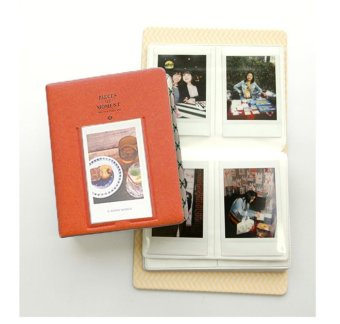 Harga leegoal 65 Pocket Photo Album For Polaroid Photo FujiFilm Instax Name Card (Orange) - intl