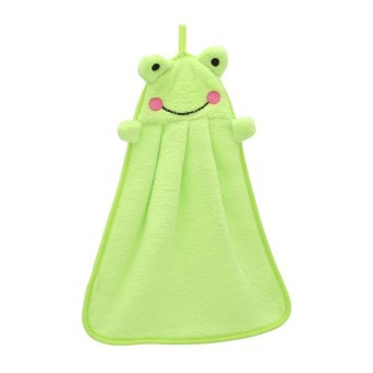 Harga EOZY Lovely Frog Cartoon Super Bibulous Coral Fleece Hand Dry Towel (Green)