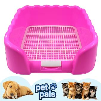 Harga Dog Cat Litter Tray Sand Box (Pink)
