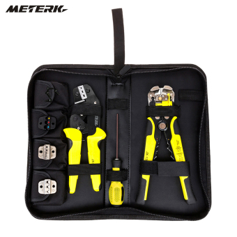 Meterk Professional 4 In 1 Wire Crimpers Engineering Ratcheting Terminal Crimping Pliers Bootlace Ferrule Crimper Tool Cord End Terminals With Wire Stripper - intl Price Philippines