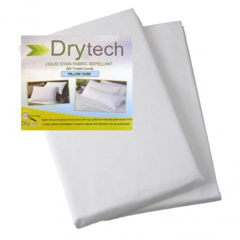 "Sleep Essentials Dry Tech Liquid Stain Fabric Repellant 2 Pieces 20"" x 30"" Pillow case Price Philippines"