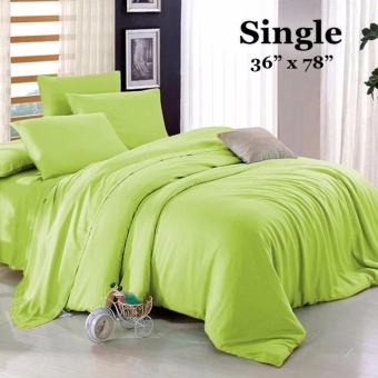 "Sleep Essentials 3-in-1 Fitted Sheets Plain Lime Green Bedsheet -Single 36"" x 78"" Price Philippines"