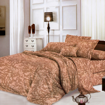 "Sleep Essentials Linen Collection Shadow Brown 3 Piece Bedding Set ( Fits 3"" to 6"" Bed Cushion) Price Philippines"