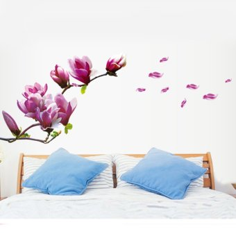 DIY Home Decoration Beautiful Mangnolia Flowers Removable Wall Art Decals Vinyl Sticker Wallpaper Price Philippines