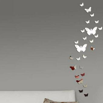 12X Butterflies Mirror Wall Sticker For Living Room Bedroom Decal Art Home Decor - intl Price Philippines