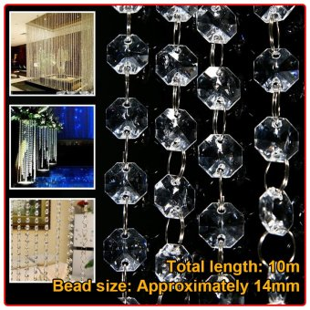 10M Acrylic Crystal Bead Garland Piece Curtain Wedding Party Supplies Décor Price Philippines