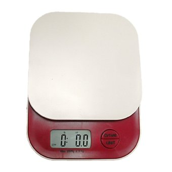 Harga Colorful Digital Weighing Scale 2000g x 0.1 (Red)