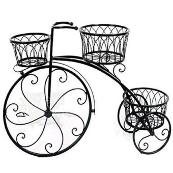 Gifts & Decor Nostalgic Bicycle Home Garden Decor Iron Plant Stand 3 Plant Stands Price Philippines
