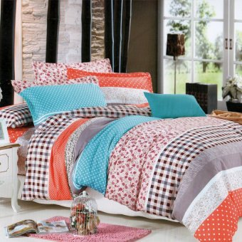 "Sleep Essentials Bloom Series Mendy Darling 3 Piece Bedding Set (Fits 3"" to 6"" Bed Cushion) Price Philippines"