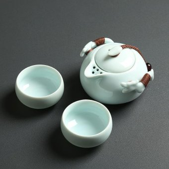 Tea Sets Chinese Kung Fu Tea Set Ceramic Teapot Tea Cup Portable Travel Tea Set(Green) - intl Price Philippines
