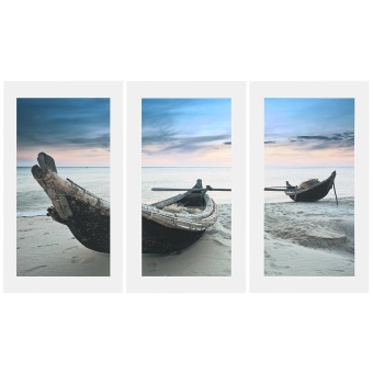 3Pcs Beach Boat Painting Art Wall Home Decoration - intl Price Philippines