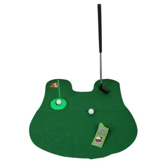 Funny Leisure Bathroom Mini Toilet Golf Game Mat Potty Putter Putting Game Novelty Gift Price Philippines