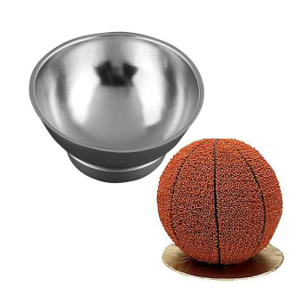 Harga 3D Sports Half Ball Cake Pan Set Basketball Fondant Mold Kitchen Bake Ware Tools