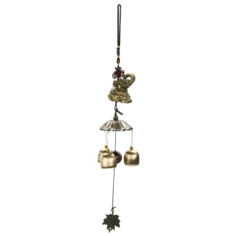 National Style 3 Copper Bells Outdoor Living Wind Chimes Yard Garden A - intl Price Philippines