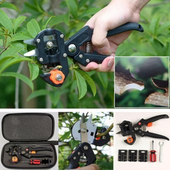 Garden Fruit Tree Pro Pruning Shears Scissor Grafting Cutting Tools Suit Black - intl Price Philippines