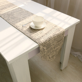 Harga 30 x 180 words dining linen table runner S30C20 - intl