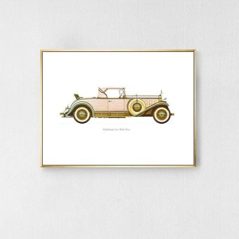 Retro Nostalgic Decorative Paintings Car Hanging Paintings Bedroom Living Room Study Bedside Paintings White 60*40*3cm - intl Price Philippines