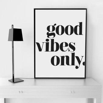 """Good Vibles Only"" Quote Wall Art Print Poster, Wall Pictures For Home Decoration, Frame Not Include Canvas Art FA143 Price Philippines"