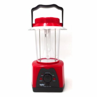 Leetec LT-199 Rechargeable Emergency Lantern With FM Scan Radio (Red) Price Philippines