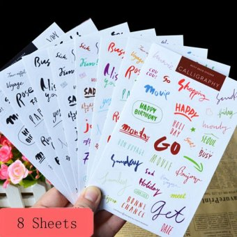 8sheet letter word diary books Scrapbooking Crafts deco PVC Craft stickers - intl Price Philippines