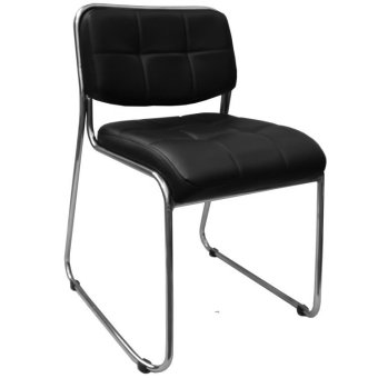 Harga Ergodynamic SC-17BLK Deluxe Faux Leather Guest Chair (Black)