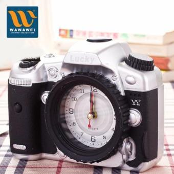 Wawawei Camera alarm clock creative personality fashion alarm clock retro nostalgia alarm clock Price Philippines